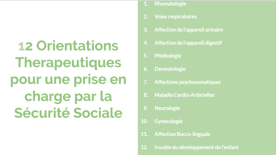 12 Orientations therapeutiques